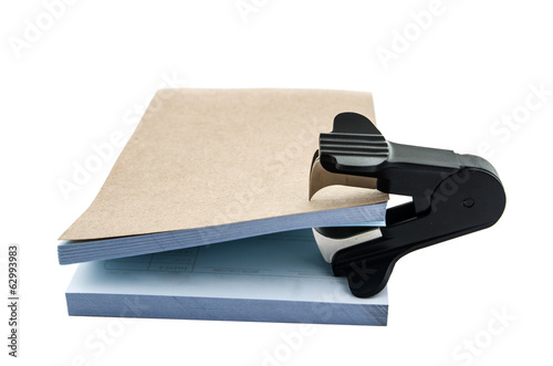 staple remover and note pad