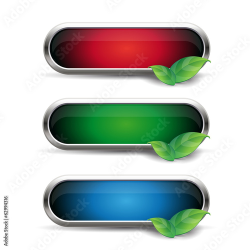 Empty button nature vector