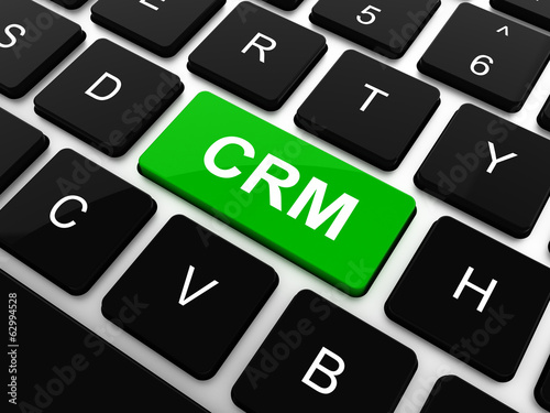 Business concept: computer keyboard with word CRM