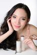 portrait of beautiful smiling healthy asian woman model.