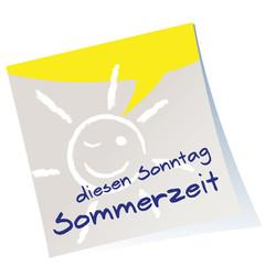 Post-it,Sommerzeit,Zeitumstellung,Heftzettel