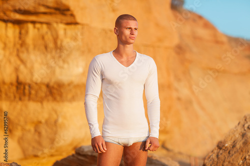 fashion man on the beach