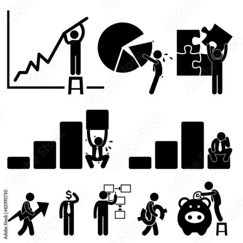 Business Finance Chart Employee Worker Businessman