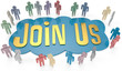 Join Us social or business people invite