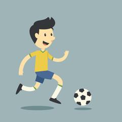 Fun football player