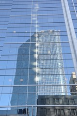 Reflection of a high rise building