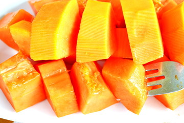 Sweet papaya fruit