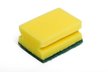 yellow cleaning sponge