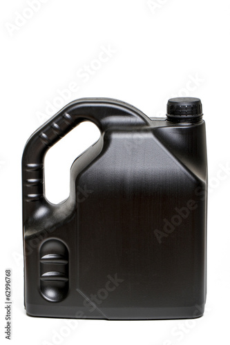 black plastic container of car oil