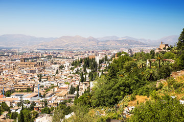 Granada City, Andalusia, Spain.