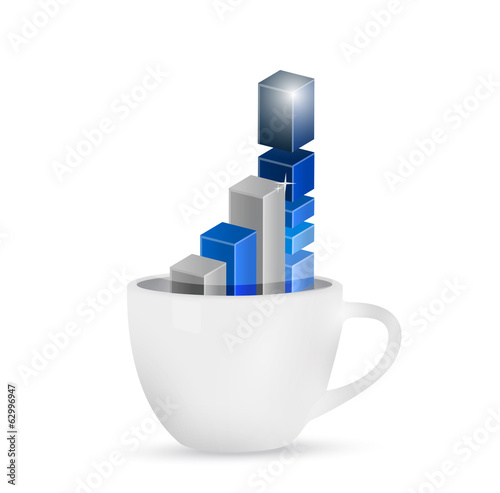 business over coffee concept. illustration design