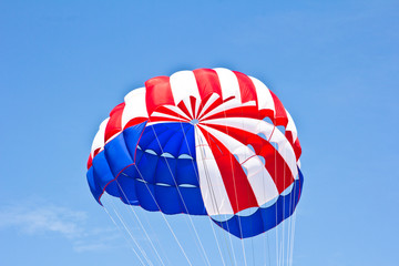parachute on sky background