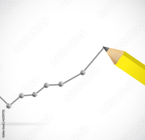drawing a business graph. illustration design