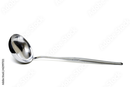 large metal spoon for soup