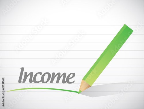 income written message illustration design