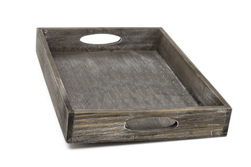 empty wood container for fruit