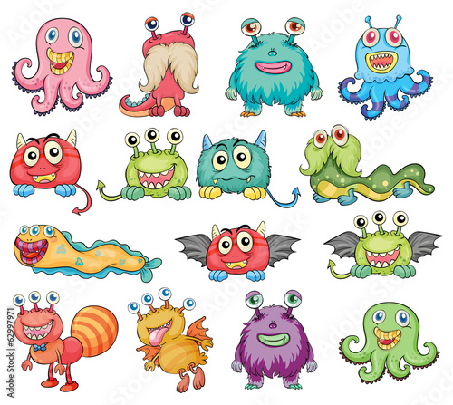 Cute and colorful monsters