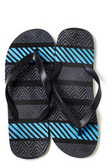 pair of beach sandals