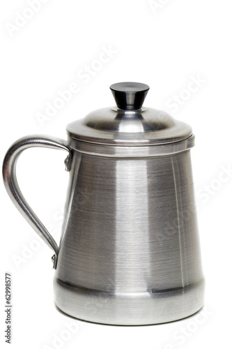 vintage aluminum coffee maker cup