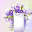 Spring flowers invitation template card