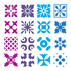 Various styles of Round grid Sets. Original Pattern and Symbol S