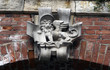 Venetian Crest at the facade in Venice