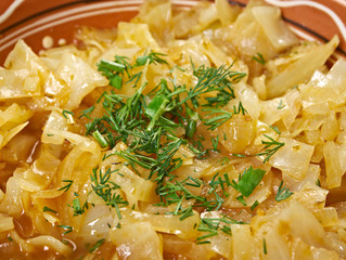 dish with cabbage stew