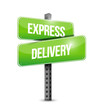 express delivery signpost illustration design