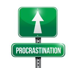 procrastination signpost illustration design