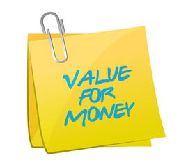value for money post message illustration design