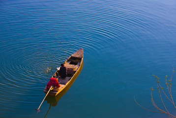 Man on a boat in Vietnam