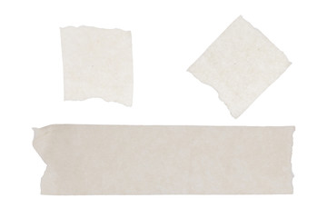 isolated of masking tape sticky on white paper background