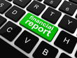 keyboard with green financial report button