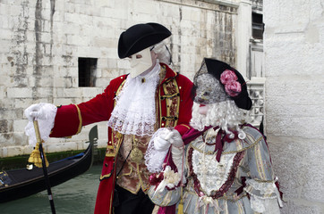 Traditional venetian luxurious costume