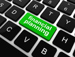keyboard key with financial planning button
