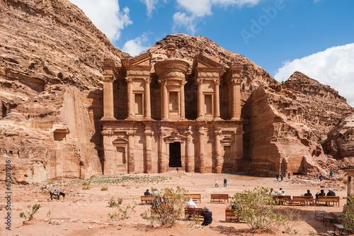 Foto op Aluminium Oude gebouw El Deir or The Monastery at Petra, Jordan