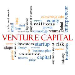 Venture Capital Word Cloud Concept