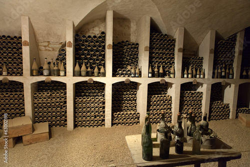 The cellar to the storage of wine in the castle Valencay.