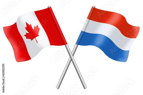 Flags : Canada and Luxembourg