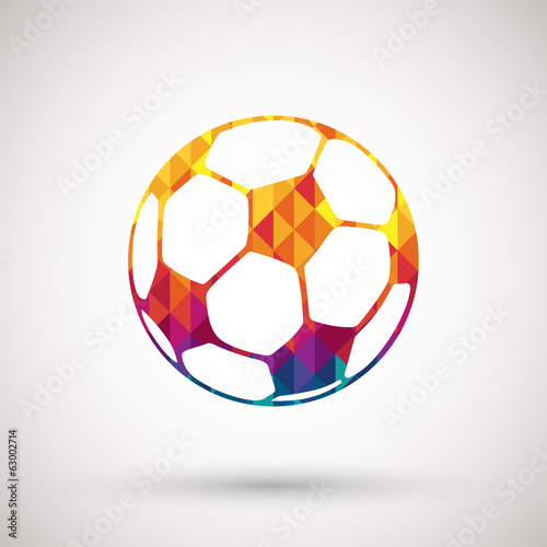 football symbol with colorful diamond