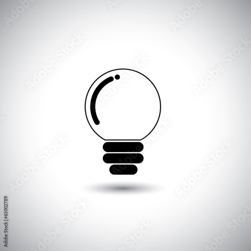 concept vector icon of idea light bulb.