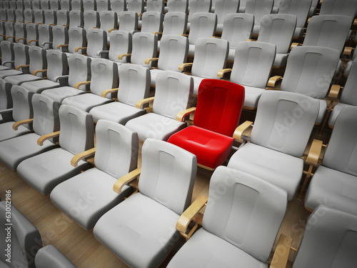 reserved cinema or theatre seat