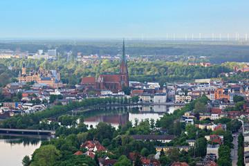 Schwerin, Luftaufnahme Innenstadt, Dom, Schloss