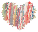 Watercolor heart from splashes