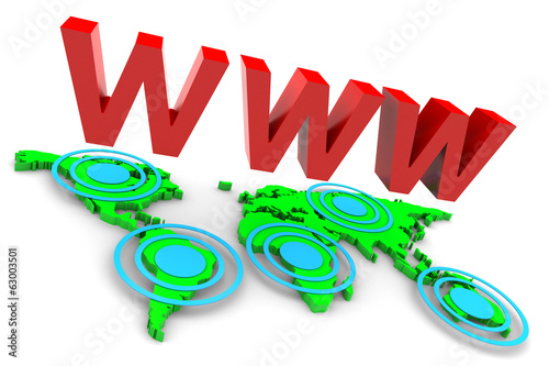 World Wide Web and Map