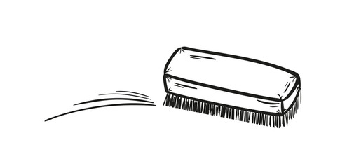 brush and cleaning up