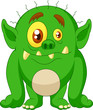 Green monster cartoon - 63003941