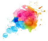 Fototapety Colorful watercolor drop on a white background