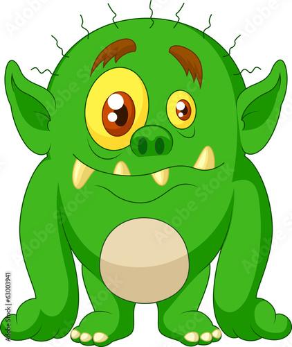 Green monster cartoon - 63003941