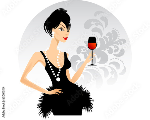 Lady with a Glass of Wine